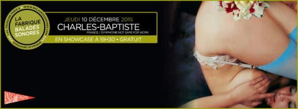 showcase Charles-Baptiste Balades Sonores