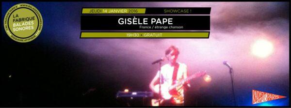 showcase GISELE PAPE balades sonores