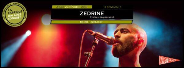 showcase ZEDRINE balades sonores