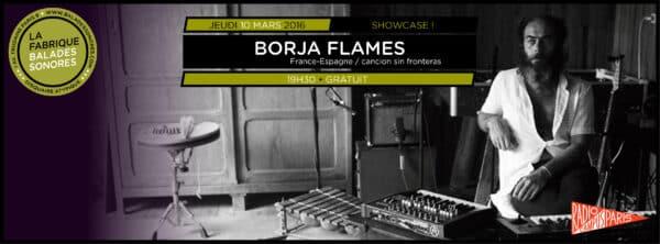 showcase BORJA FLAMES BALADES SONORES
