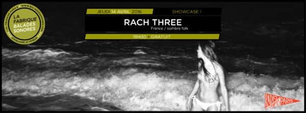 showcase RACH THREE balades sonores