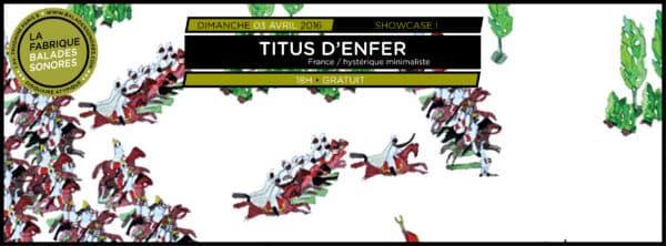 showcase TITUS D'ENFER balades sonores