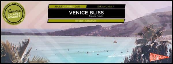 showcase VENICE BLISS balades sonores