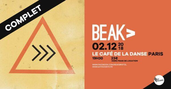 Beak> en concert complet au Café de la Danse le 2 décembre