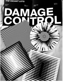 THE VACANT LOTS Damage Control (Black & White splatter Vinyl)