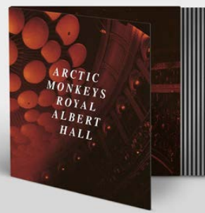 """ARCTIC MONKEYS LIVE AT THE ROYAL ALBERT HALL (Transparent """"CLEAR"""" coloured heavyweight (180g) 12"""" vinyl w/t labels)"""