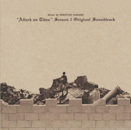 Hiroyuku Sawano Attack on Titan Season 2 (Original Soundtrack- Ed purple / white)